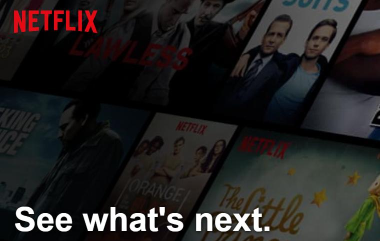 Netflix opening page