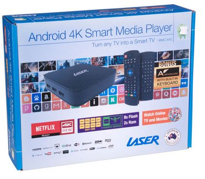 Laser 4K ANdroid media player