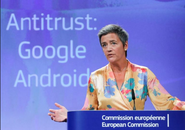 EU fines Google 5 billion