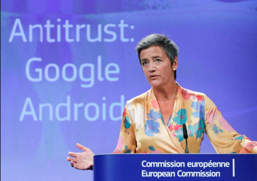 EU fines Google 5 billion
