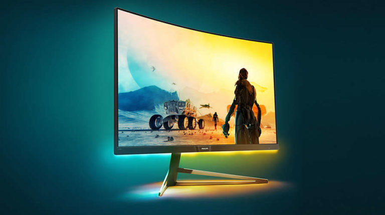 Philips QHD Momentum 32 inch curved HDR400 certified monitor