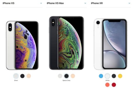 Apple iPhone XR XS and XS Max