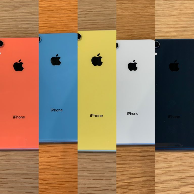 Collage of iPhone XR coloured phones