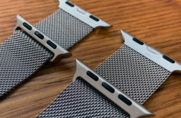 Watch bands side by side in silver
