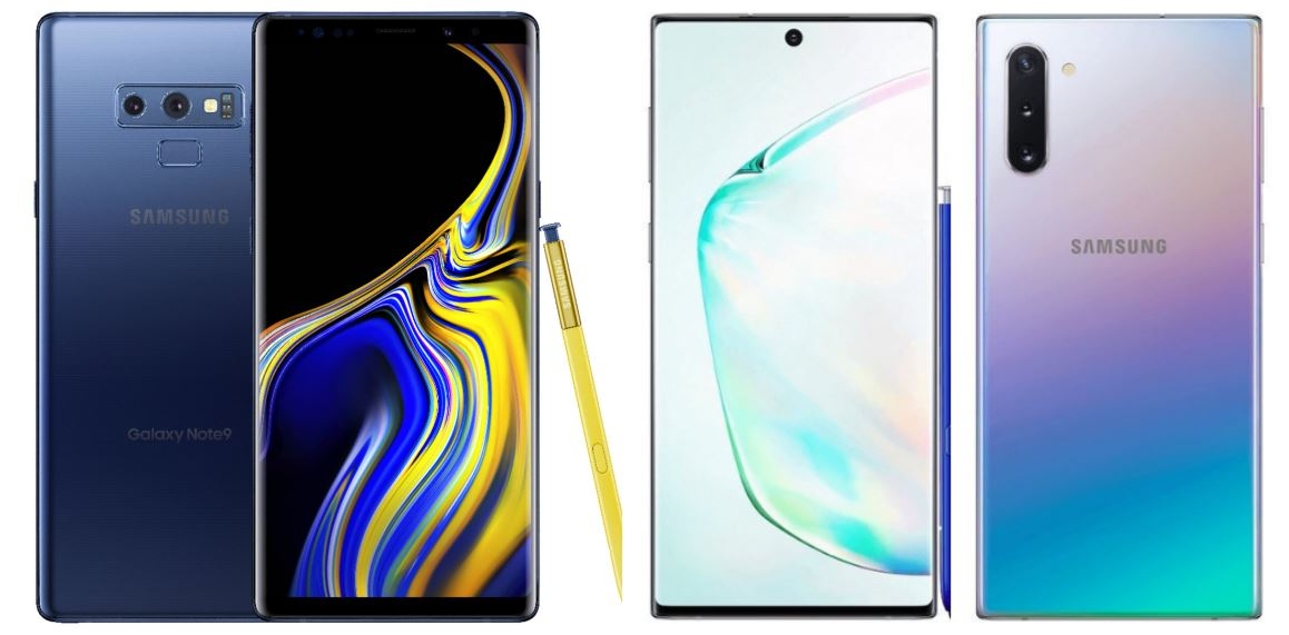 Note9 versus Galaxy Note10