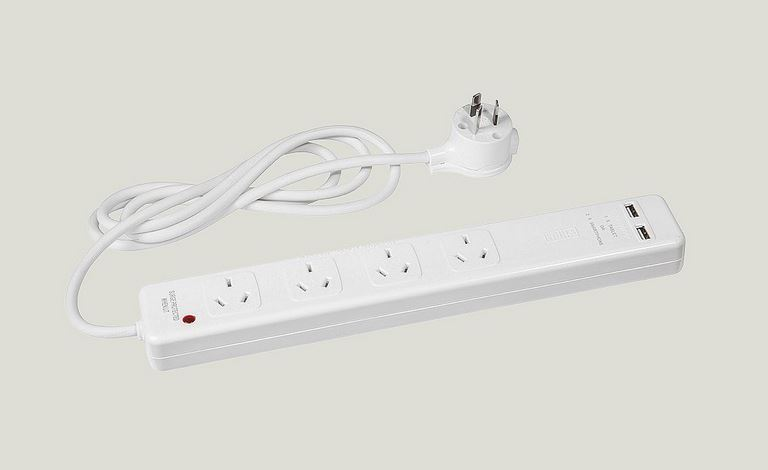 HPM 4 outlet powerboard with USB-C and USB-A