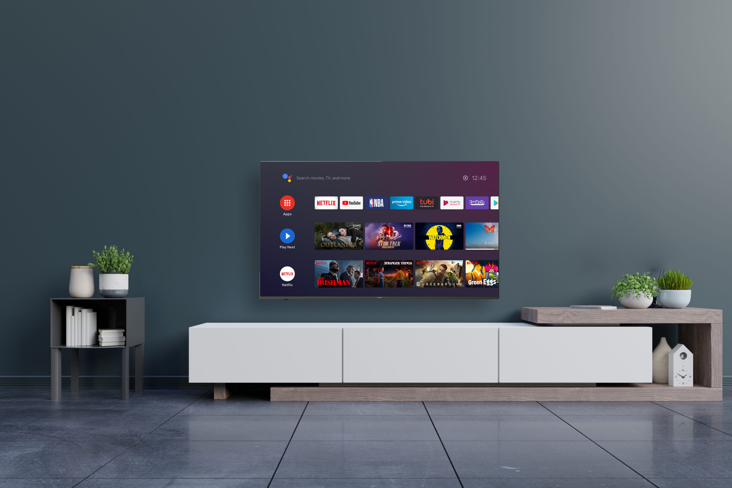 Hitachi 4K Android TV in living room
