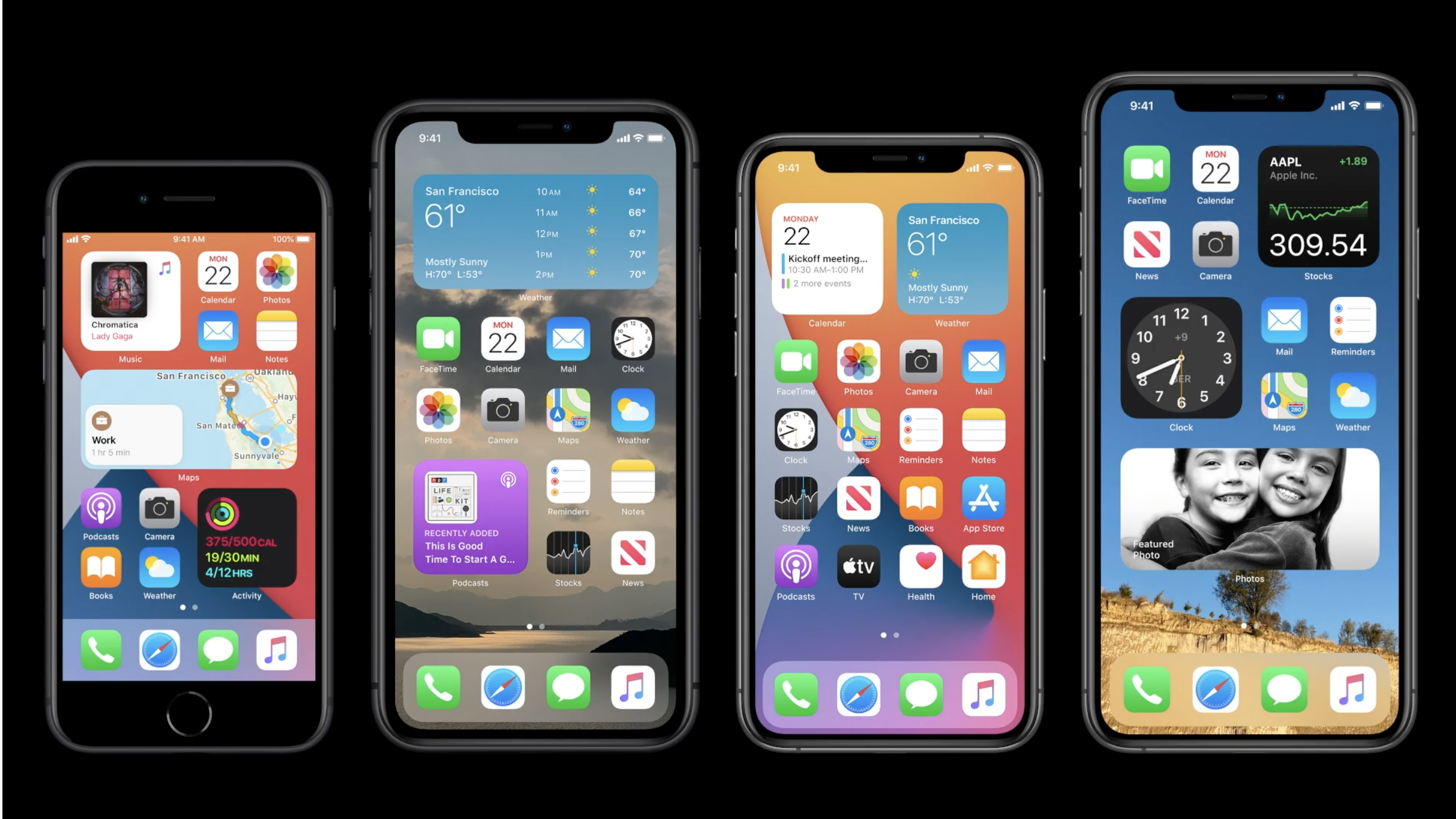 iOS 14 on multiple iPhones