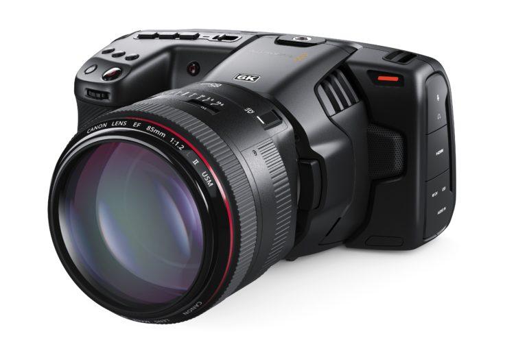 Blackmagic Pocket Cinema Camera on angle