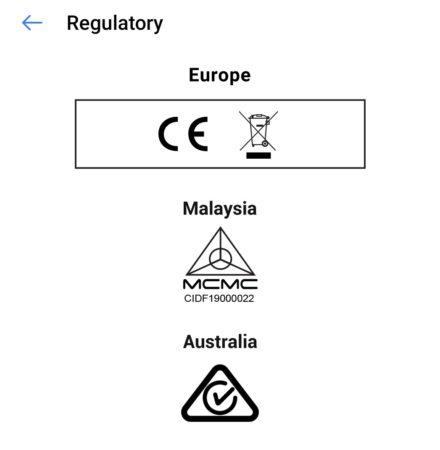 Regulatory label for use in Australia