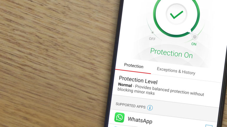 Trend Micro Security running on Android phone