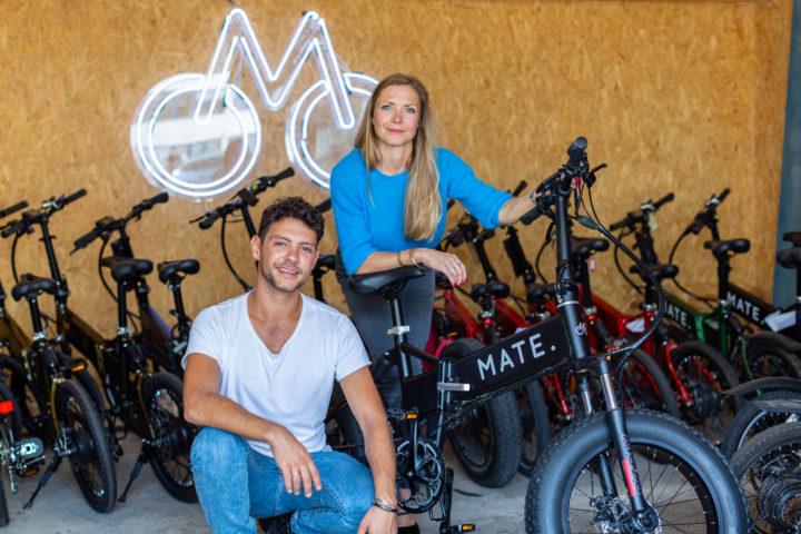 Mate.Bike founders siblings Christian Adel Michael and Julie Kronstrøm Carton