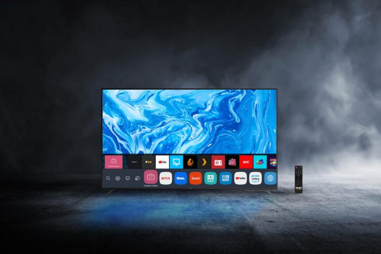 Ayonz TV in dark room
