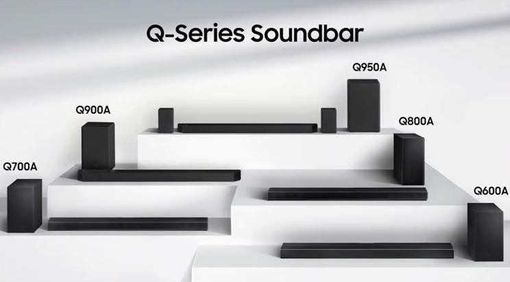 Samsung 2021 soundbar range