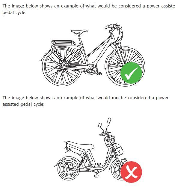 e-bikes legal