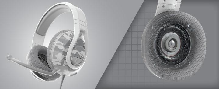 Recon 500 headphones showing speaker tech
