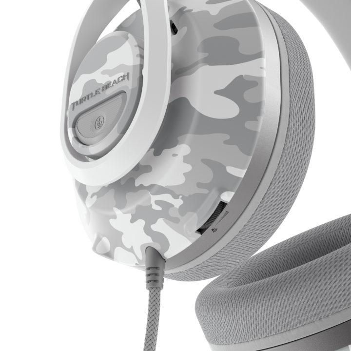 Recon 500 headset in arctic Camo colour close up