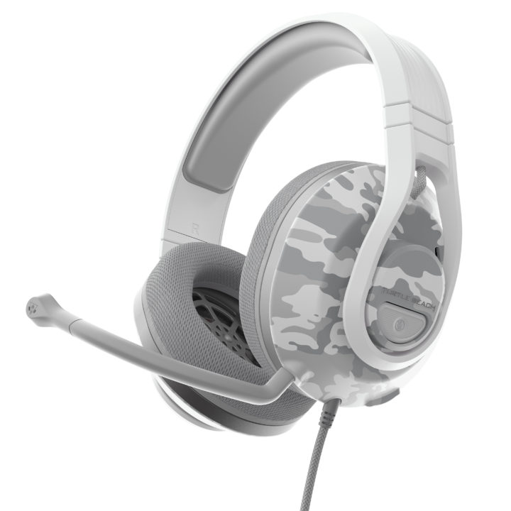 Recon 500 headset in arctic Camo colour lower view