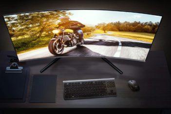 "Samsung 32"" 4K curved monitor UR590C"