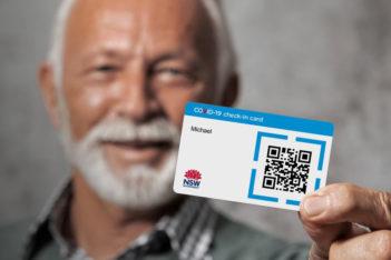 COVID Check-in card