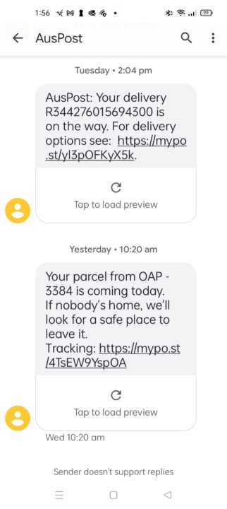 SMS scams